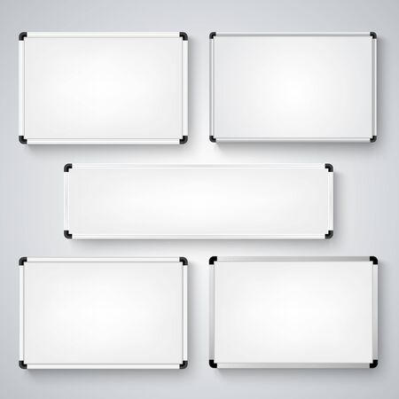 Collection of blank different whiteboards template vector eps 10 版權商用圖片 - 141391025