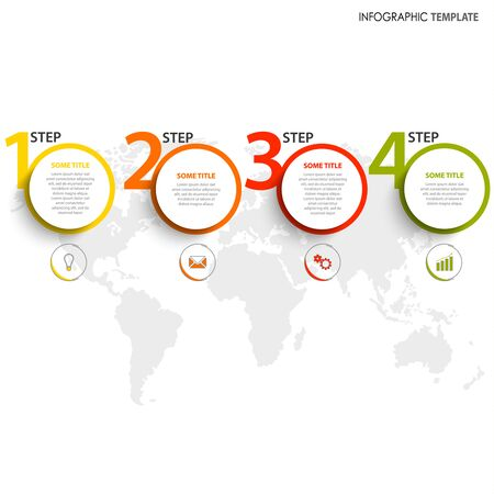 Info graphic with circular pointers and numbers template vector eps 10