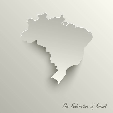 Abstract design map the Federative Republic of Brazil template