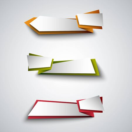 Collection of colorful design web element pointers vector eps 10 Illustration
