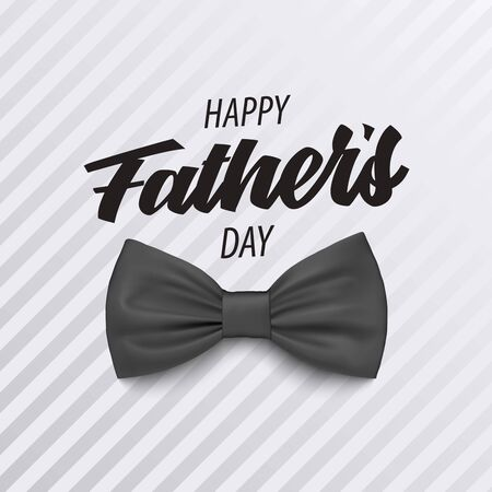 Fathers Day poster with bow tie in gray design vector eps 10 Illustration