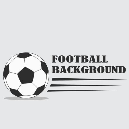 Football  with balloon in black white design