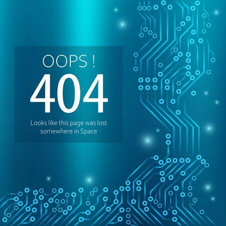 Page not found error in blue design vector eps 10
