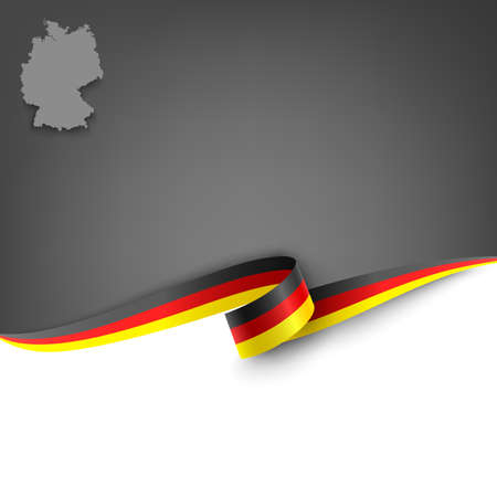 Document with ribbon and map Federal Republic of Germany template