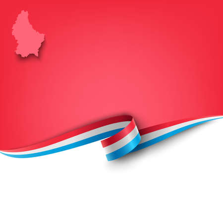 Document with ribbon and map the Grand Duchy of Luxembourg template vector eps 10
