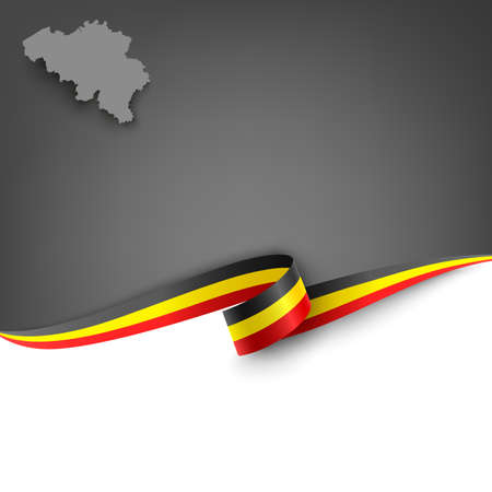 Document with ribbon and map the Kingdom of Belgium template vector eps 10