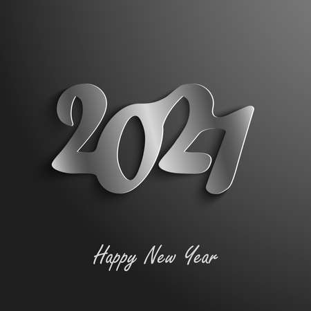 New Year background with atypical numbers in dark design vector Ilustração