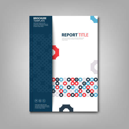 Brochures book or flyer with colorful abstract pattern template vector eps 10 Ilustração