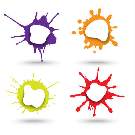 Web elements with abstract spots in color design vector