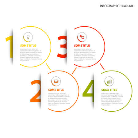 Info graphic with numbers tucked in his pocket template vector