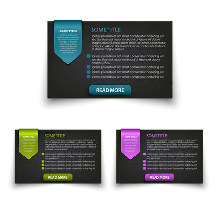 Collection of web elements information window vector eps 10
