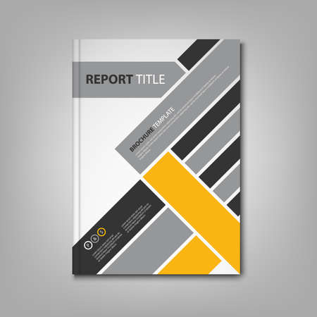 Brochures book or flyer with abstract diagonal stripes template vector eps 10 Çizim