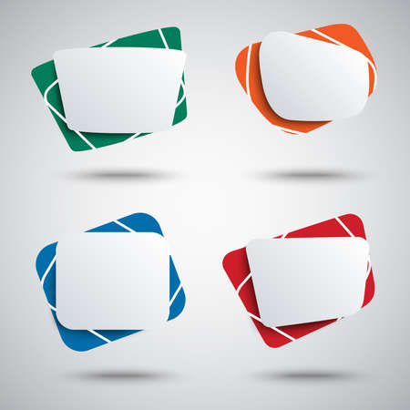 Collection of colorful abstract banners in different design vector eps 10