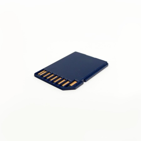 capacious: Card of memory of format SD on a light background