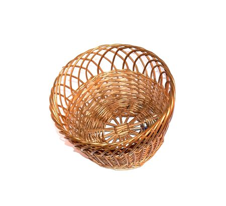 capacious: Basket for dessert food on a white background