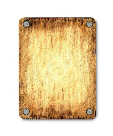stark: Die Holz-Tablette, die vernagelt. Das Licht in der Mitte erm�glicht, um den Text oder das Bild auf einem Brett.