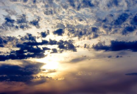 crepuscular: Heavy, but very picturesque clouds illuminated by the evening sun I can serve as an effective background