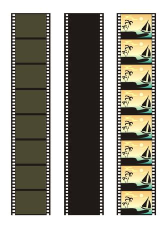 episode: Illustration with the image of a film in several variations. Each figure can be a making circuit of the pictures incorporated in a single whole.