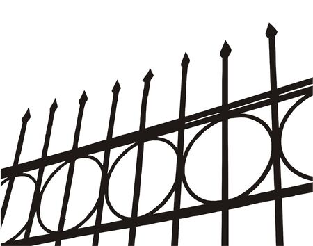The drawn fence from the forged metal