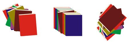 vector image of a book set Stock Vector - 1640770