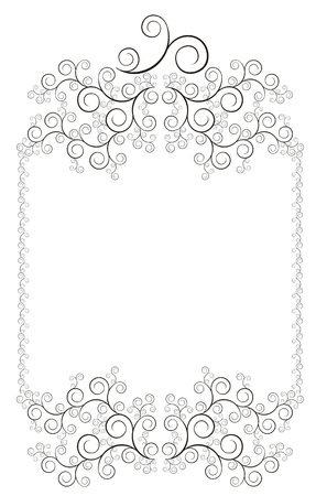 celtic frame: The figure representing the isolated openwork framework with a pattern of black color on a white background