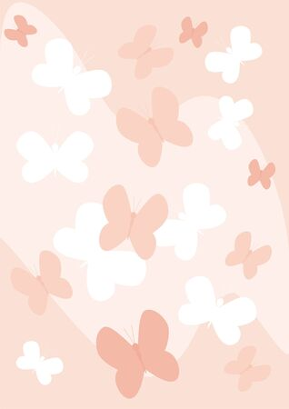 simplicity: The figure representing white and pink butterflies on a pink background