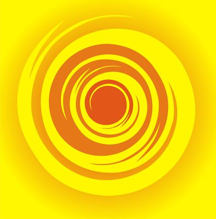 The figure representing a round pattern in the form of an abstract flame Stock Vector - 1640884