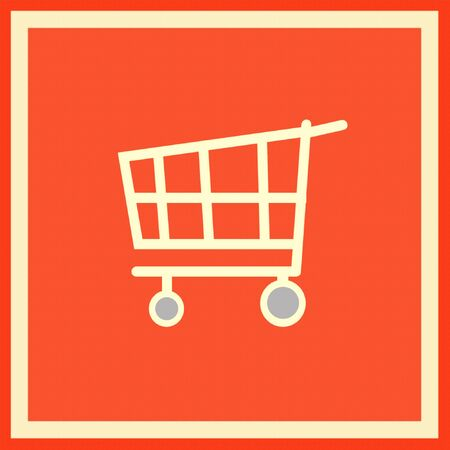 shopping carriage: The emblem meaning, that nearby is a large supermarket