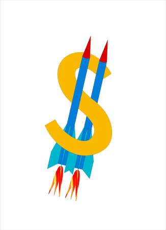 symbolics: Ridiculous picture with the image of symbolics Euro, where instead of two strips two rockets