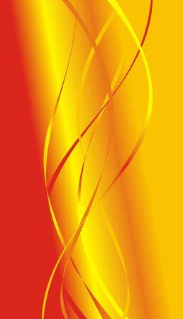 passing: Tiras de rojo, naranja y color amarillo sobre fondo rojo sin pasar en amarillo