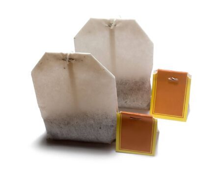 useful: Bags with tea for fast preparation of tea. The image is isolated on white.