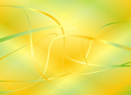 Abstract background of yellow and green shades with a pattern in the form of waves and strips Stock Photo - 1868667