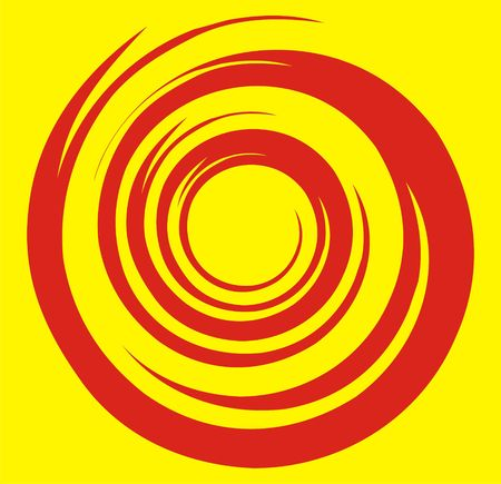 The figure representing a round pattern in the form of an abstract flame Stock Photo - 1961389
