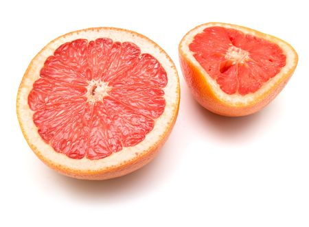 collateral: Fresh grapefruit on white.