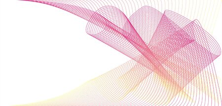 yelow: The illustration consisting of an abstract framework of pink and yelow color on a white background Stock Photo