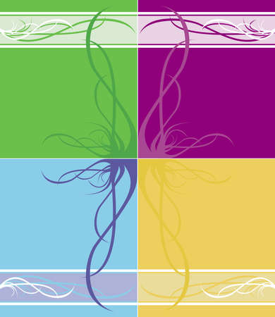 Four variants of an abstract pattern on backgrounds of different colors Stock Photo - 2480800