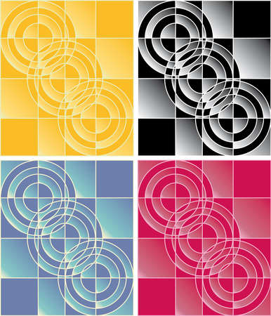 variant: Four variants of a checkered abstract background of different colors