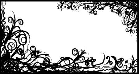 gloomy: Black horizontal framework in gloomy style