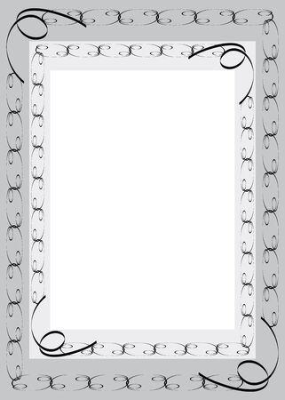 gloomy: Black framework in gloomy style on grey background Stock Photo