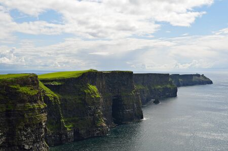 moher: The impressive cliffs of Moher at the atlantic west coast of the island of Ireland in county Clare.