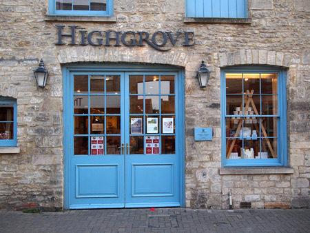 tetbury: Tetbury, UK – August 25, 2013: The front of the royal Highgrove Shop, the store of Prince Charles in Tetbury, a town in the Cotswolds, England, UK. Editorial