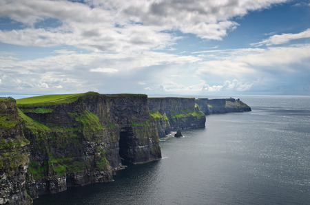 promontory: The cliffs of Moher, high promontory rocks at the atlantic western coast of Ireland, county Clare.
