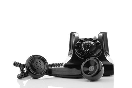 bakelite: Old retro bakelite telephone  On a white background