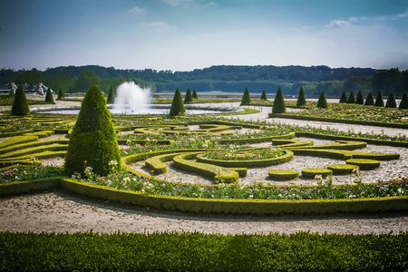 Versailles castle garden which are famous all over the world