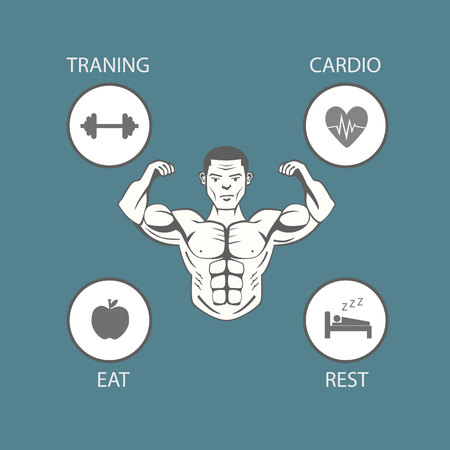 Body building lifestyle Illustration