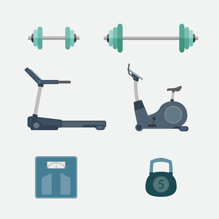 Set of fitness tool vector