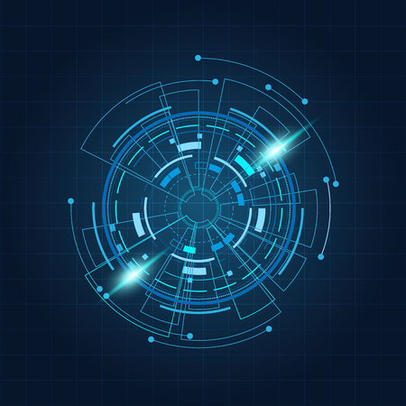 Sci fi futuristic user interface, HUD, Technology abstract background , Vector illustration