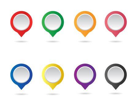 vector mapmaker set, pin location