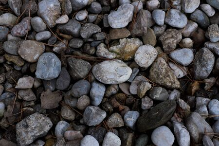sized: Different sized and colored pebbles