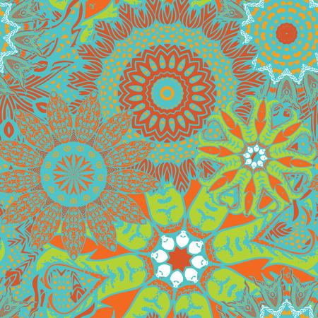 ottoman fabric: Seamless boho mandala pattern. Vintage decorative elements. Hand drawn background. Islam, Arabic, Indian, ottoman motifs. Perfect for printing on fabric or paper.